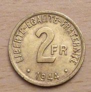 2 Francs 1944 Philadelphie - FRANCE-LIBRE - I. 2 Francs