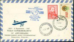 Erste Flüge-Primi Voli-First Flights--marcofilia-primeros Vuelos- BUENOS AIRES-MONTEVIDEO-VUELO CONMEMORATIVO - Argentina