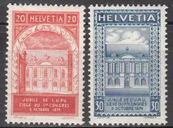 SWITZERLAND     SCOTT NO. 204-5       MINT HINGED       YEAR  1924 - Nuovi
