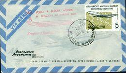 Erste Flüge-Primi Voli-First Flights--marcofilia-primeros Vuelos- BUENOS AIRES-LONDRES-AEROLINAS ARGENTINAS - Argentina