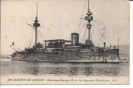 """CPA - Marine De Guerre """"MARCEAU, Cuirassé Ecole Des Apprentis Torpilleurs"""" - Otros"""