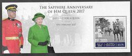 ISLE OF MAN 06/02/17- HM The Queen's  SAPPHIRE JUBILEE  Minisheet - Isla De Man