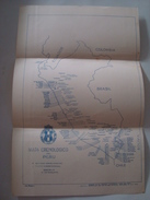 MAPA CRENOLOGICO DEL PERÚ - 1950 APROX. TACP. TOURING Y AUTOMOVIL CLUB DEL PERÚ. - Cartes