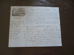 Connaissement En Italien 1867 Trapani Dico Granito Salino Pizo Paria - Italie