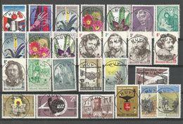 1965 - COB N° 1313 à 1359 - 47 Timbres + 2 Blocs - Oblitérés (o) - Des Oblitérations  HUY 11 - + Cadeaux + 21 Documents - Belgien