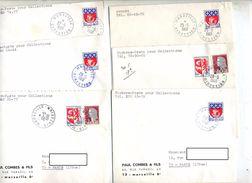 Lot 8 Lettre Cachet Marseille Direction - Marcophilie (Lettres)