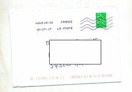 Lettre Flamme Chiffree Sous Code Roc Sur Roulette - Mechanical Postmarks (Advertisement)