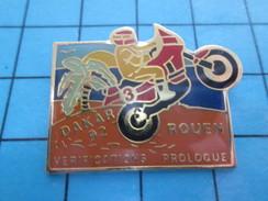 Pin611a Pin's Pins : Rare Et Belle Qualité MOTOS : RALLYE PARIS DAKAR ROUEN VERIFICATION PROLOGUE ACSEL Et Rateur ? - Motorbikes