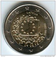 Lettonie Latvia 2 Euro 2015 Drapeau Européen UNC - Letonia