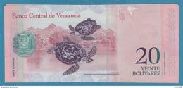 VENEZUELA 20 Bolivares 24.05.2007 Serie F151 P# 91b TORTUES Hawksbill Turtles UNC - Venezuela