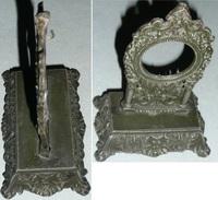 Rare Ancien Porte-montre à Gousset Laqué, Décors Rococo Rocaille, Mascaron Masque Début XXe - Andere Verzamelingen