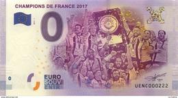 63 CLERMONT FERRAND STADE MICHELIN CHAMPION DE FRANCE BILLET ZERO EURO SOUVENIR 2017 BANKNOTE BANK NOTE PAPER MONNAIE - EURO