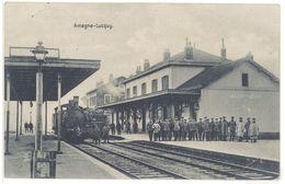 Cpa  Amagne - Lucquy - Gare, Train - France