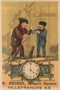 F TRUCHET -Horlogerie Bijouterie Villefranche Sur Saône,chromo (format 7,5x11cm) - Autres
