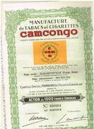 Ancienne Action - Manufacture De Tabac Et Cigarettes CAMCONGO - - Afrique