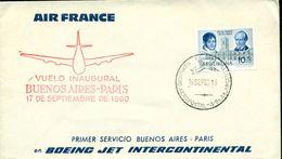 Erste Flüge-Primi Voli-First Flights--marcofilia-primeros Vuelos- BUENOS AIRES-paris-air France - Argentina