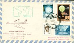 Erste Flüge-Primi Voli-First Flights--marcofilia-primeros Vuelos- BUENOS AIRES-CIUDAD DEL CABO-AEROLINEAS ARGENTINAS - Argentina