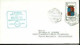 Erste Flüge-Primi Voli-First Flights--marcofilia-primeros Vuelos- PALMA DE MALLORCA-FRANKFURT-LUFTHANSA - Spagna
