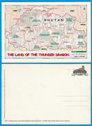 Postcard MAP Of BHUTAN End 1990s? - Bhutan