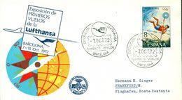 Erste Flüge-Primi Voli-First Flights--marcofilia-primeros Vuelos- EXPOSITION DE PRIMEROS VUELOS DE LA LUFTHANSA-BARCELON - Spagna