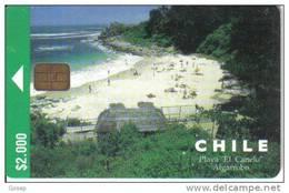 Chile-playa El Canelo Algarroba-$2.000-tirage-35.000-12/1998-used Card+1 Card Prepiad Free - Chile