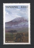 Tansania 'Freimarke Elefant U. Kilimandscharo' / Tanzania 'Elephant & Mt.Kilimajaro Definitive' **/MNH 1998 - Olifanten