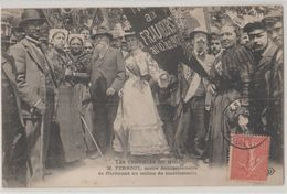11 Narbonne 1907 Manifestations Viticoles Ferroul Maire Démissionnaire Et Manifestants Beau Plan TB Animée éditeur ELD - Narbonne