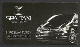 Czech Republic, Karlovy Vary, Taxi Business Card, Spa Taxi - Advertising