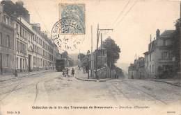 76 - SEINE MARITIME / Bonsecours - 76357 - Tramway - Jonction D' Eauplet - Bonsecours