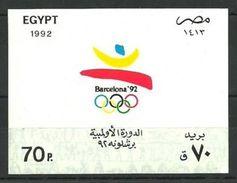 EGIPTO 1992 - EGYPT - OLYMPICS BARCELONA 92 - YVERT BF 55 - MICHEL BLOCK 48 - SCOTT SS 1492 - Verano 1992: Barcelona