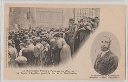 66 Perpignan 1907 Comitté D'Argeliers Manifestations Viticoles Au Castillet éditeur Lib Brun Perpignan - Perpignan