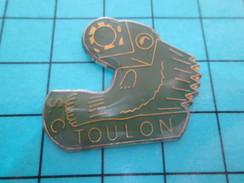 Pin611a Pin's Pins : Rare Et Belle Qualité SPORTS / CLUB SPORTIF S.C. TOULON - Pin