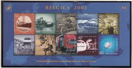 New Zealand - Belgica 2001 - XX - Michel 1880/1887 - Cote 10.00 - Poste