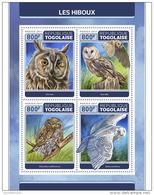 TOGO 2017 ** Owls Eulen Hiboux M/S - OFFICIAL ISSUE - DH1728 - Eulenvögel