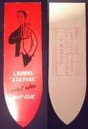 Ancien Marque Page Carton Publicité Pub Crayon Bic Clic Milieu XX ème - Bookmarks