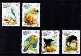 Laos. Postes Lao. Birds. - Laos