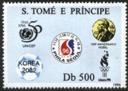 SAO TOME AND PRINCIPE, 1996, ANNIVERSARY OF EVENTS, R#1304, MNH - Sao Tomé E Principe