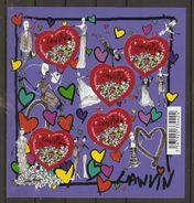 France - 2010 - St Valentin - Coeurs - Lanvin -  BF 129 MNH - Mint/Hinged
