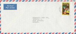 Nigeria Air Mail Cover Sent To Denmark 1996 ?? - Nigeria (1961-...)