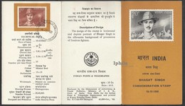 Bhagat Singh Stamped Folder Great Indian Revolutionary Freedom Fighter 1968 Indes Indian Indien Inde Sikh Sikhs Sikhism - Religions