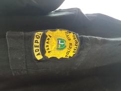 T-shirt Brésilien Noir POLICIA CIVIL DELEGADO PARANA ADEPOL   (authentique) Petite Taille ??  Déjà Servi - Police