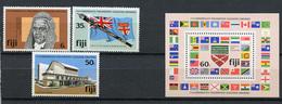 1981 - FIJI - Catg. Mi.  444/446 + Block 2 - NH - (R-SI.331.713 -  50) - Fiji (1970-...)