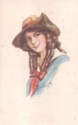 Carte Postale. Femme, Margarine Summa - Publicité