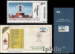 Sikh Regiment FDC & Folder 1996 Indian Indien Inde Sikh Sikhs Sikhism Victoria Cross PVC India - Religions