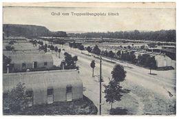 Cpa Allemagne - Gruss Vom Truppenübungsplatz Bitsch ( Camp Militaire, Tampon, Prisonniers ? ) - Allemagne