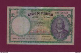 20 Escudos  1954 - Portugal