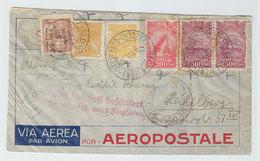 Brazil AEROPOSTALE AIRMAIL COVER GERMAN LUFTPOST CUBA TRANSIT TBC 1933 - Luchtpost (private Maatschappijen)
