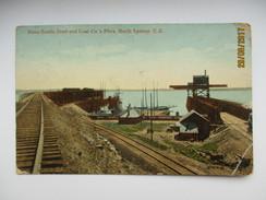 CANADA  NOVA SCOTIA STEEL AND COAL CO`S PIERS , NORTH SYDNEY , OLD POSTCARD , 0 - Cape Breton
