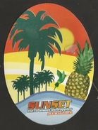 # PINEAPPLE SUNSET Fruit Tag Balise Etiqueta Anhanger Ananas Pina Costa Rica - Fruits & Vegetables