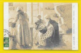 """Claude FIRMIN """"Filles Comtadines"""" Salon 1909 (LL) - Peintures & Tableaux"""